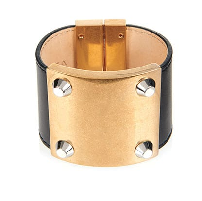 Stud Line leather cuff BY BALENCIAGA
