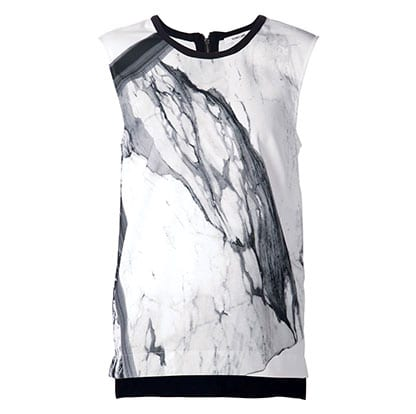 Marble Print Top BY HELMUT LANG