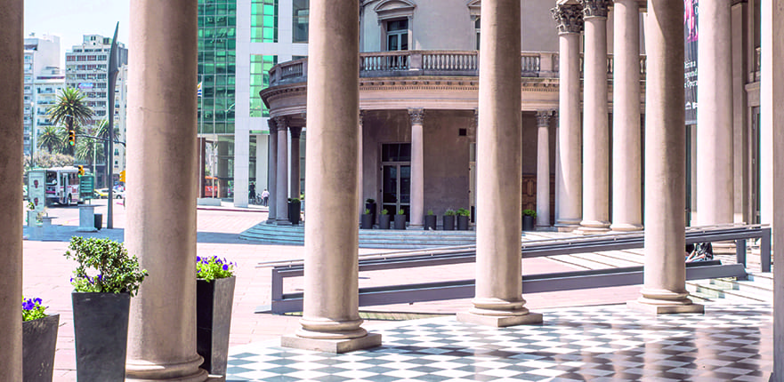 ENMERH Famous Colonnade in Neoclassicism architecture of Theatre Solis in Montevideo