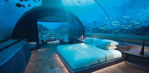 Go beneath the surface in this surreal hotel in the Maldives