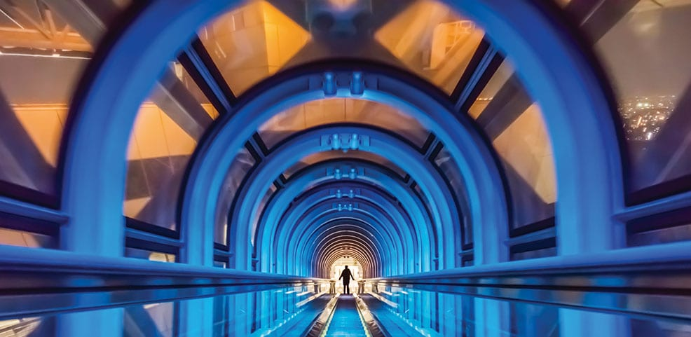 Osaka's Umeda Sky Building has the world's highest escalator
